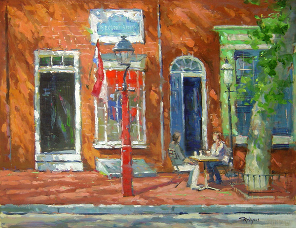 2nd AVENUE, PHILLY by Jim Rodgers - 16 x 20 in., o/b • $3,700