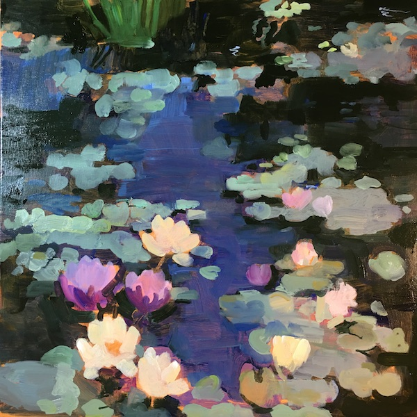 AT THE BOTANICAL GARDENS by Anita Shrager - Look for this one at the Philadelphia Sketch Club: Art of the Flower in March 2018!