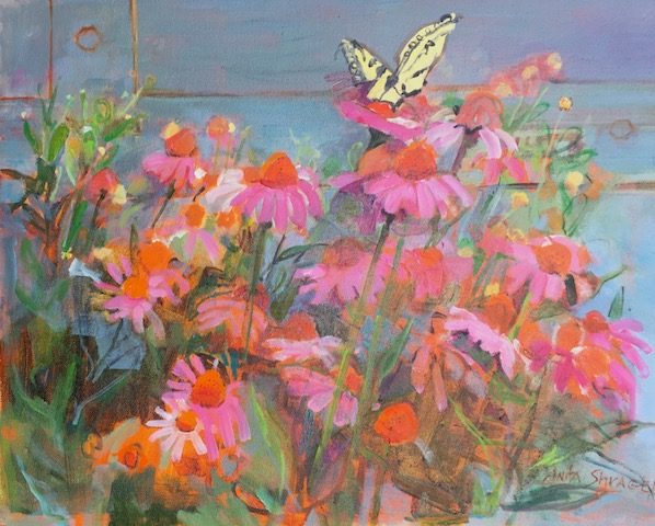 BUTTERFLY BLESSINGS by Anita Shrager - 16 x 20 in., o/c • SOLD