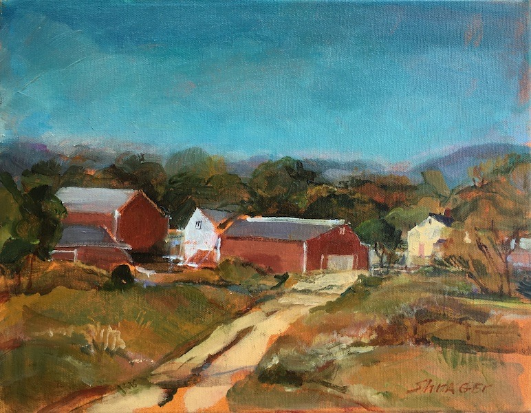 END OF A PERFECT DAY by Anita Shrager - 11 x 14 in., o/c • $1,975
