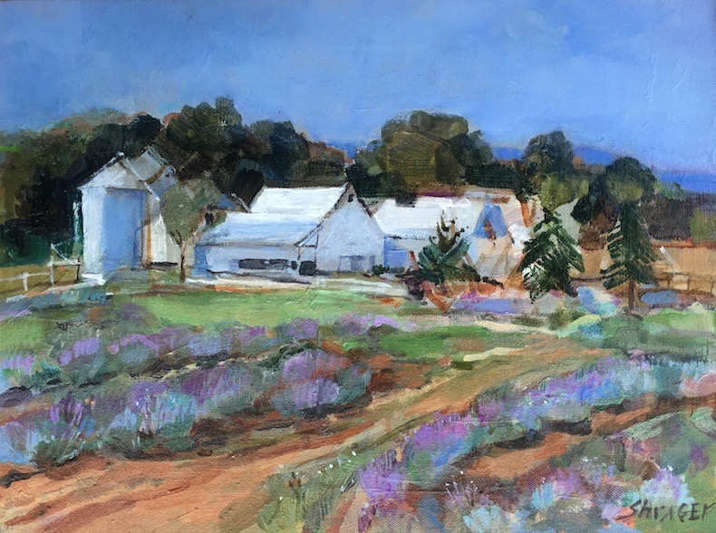 LAVENDER IN THE AIR  by Anita Shrager - 12 x 16 in., o/c • SOLD