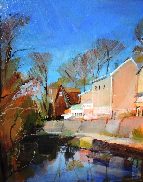 EARLY NOVEMBER by Anita Shrager - 14 x 11 in., o/c • $1,975