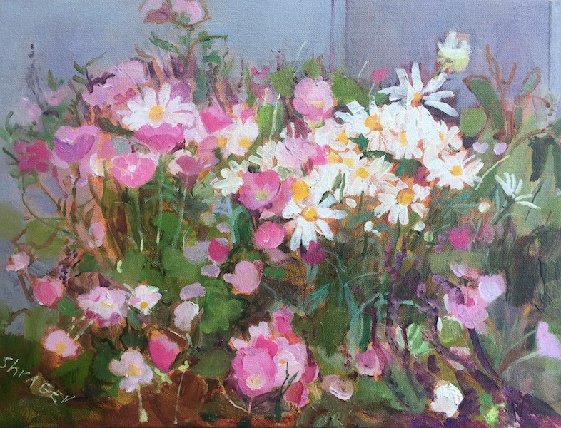 PEARL'S GARDEN by Anita Shrager - 12 x 16 in., o/c • SOLD