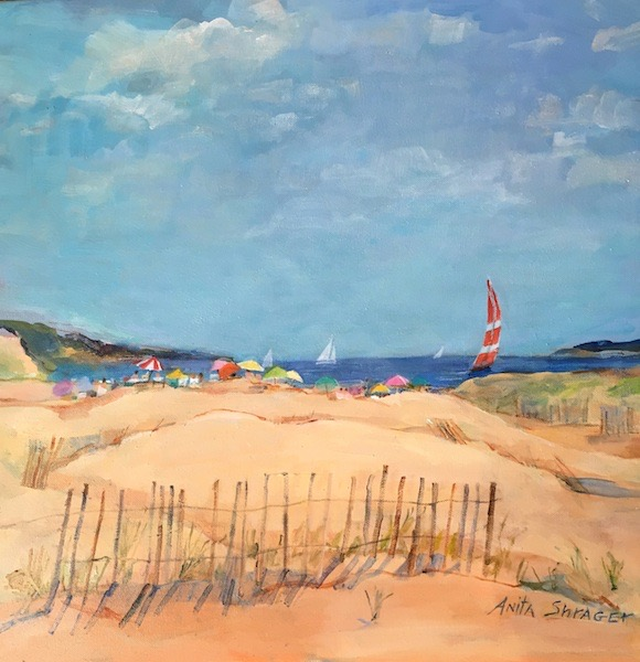 SALTWATER SATURDAY by Anita Shrager - 20 x 20 in., o/c • $3,200