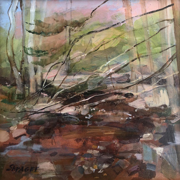 SPARKLING LIGHT, CUTTALOSSA ROAD by Anita Shrager - 12 x 12 in., o/c • $2,200