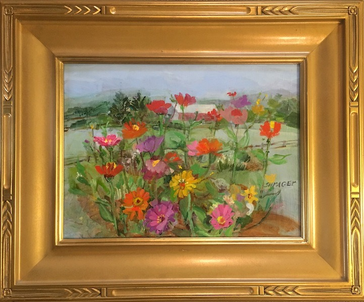 SUMMER PALETTE (framed) by Anita Shrager - 12 x 16 in., o/c • SOLD