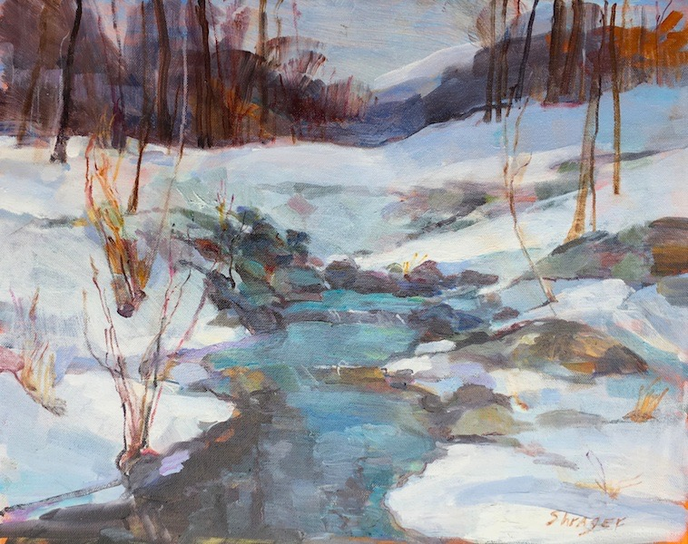 TURQUOISE ON THE CUTTALOSSA  by Anita Shrager - 16 x 20 in., o/c • $3,500