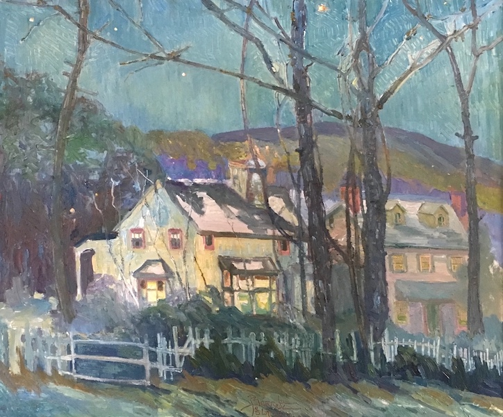 LAST DAYLIGHT, BUCKINGHAM MOUNTAIN by Joseph Barrett - 30 x 36 inches, o/c • SOLD