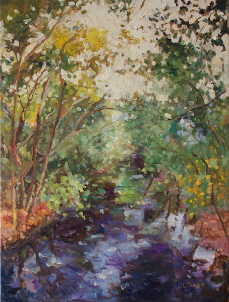 CANAL AT BULL'S ISLAND by Jean Childs Buzgo - 24 x 18 in., • SOLD