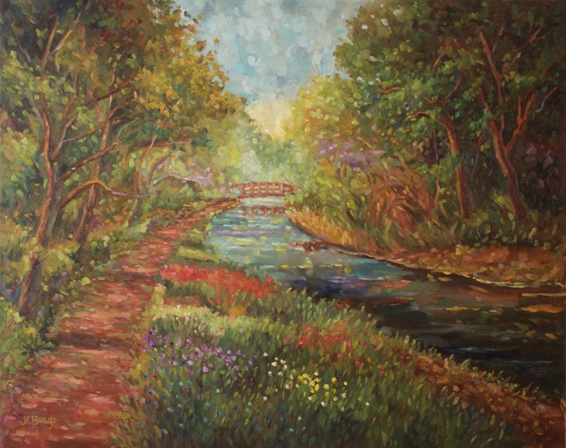 CANAL WILDFLOWERS by Jean Childs Buzgo - 24 x 30 in., o/c • $4,200