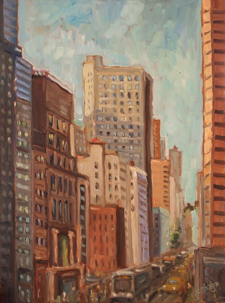 NEW for 2018: CITY STREETS by Jean Childs Buzgo - 16 x 12 in., o/b • $1,600