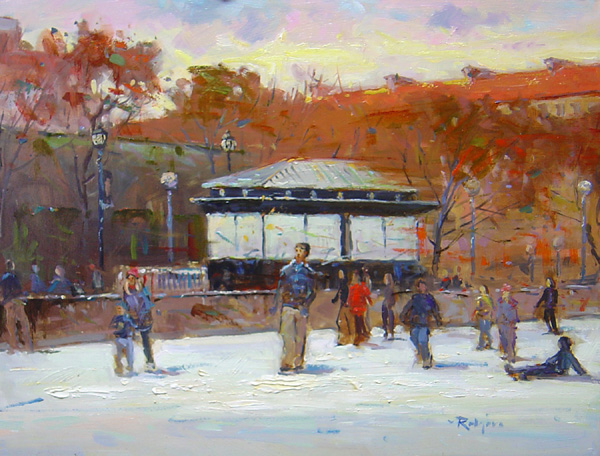 CHRISTMAS IN THE CAPITAL by Jim Rodgers- 12 x 16 in., o/b • $2,500