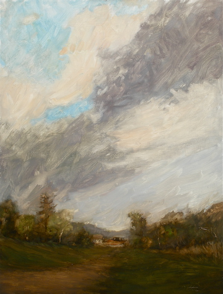 EVENING SKY by David Stier - 30 x 23 in., o/p • $5,600 • • • LOOK FOR THIS AT THE 2018 BUCKS COUNTY DESIGNER HOUSE!