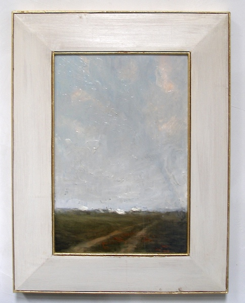 NEW! David Stier custom, signed frame on DISTANT VILLAGE • $2,400