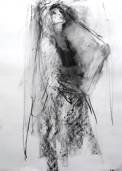 WOMAN WITH VEIL by David Stier23 x 15 in., charcoal on paper • SOLD