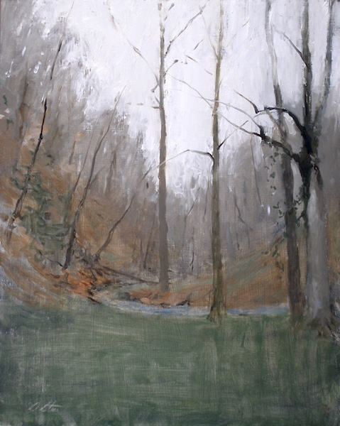 MEANDERING PAUNACUSSING CREEK by David Stier - 30 x 24 in., o/b • $5,500