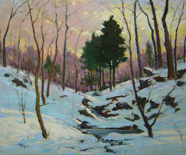 DAWN BREAKING by Jim Rodgers - 20 x 24 in., ob • $4,700