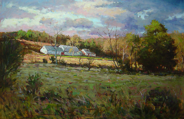 DECEMBER AFTERNOON, BEDMINSTER by Jim Rodgers - 24 x 36 in., o/b • $8,500