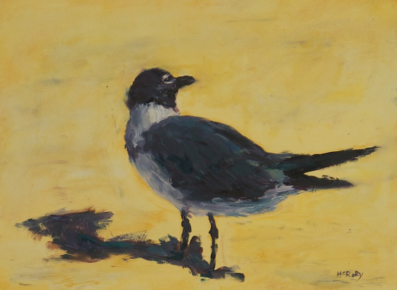 GULL by Desmond McRory - 12 x 16 in., • SOLD