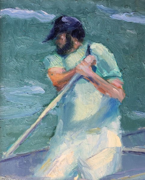 RHODE ISLAND FISHERMAN by Desmond McRory - 20 x 16 in., o/b • $2,000