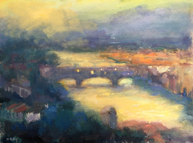 PONTE VECCHIO by Desmond McRory - 18 x 24 in., o/b • SOLD