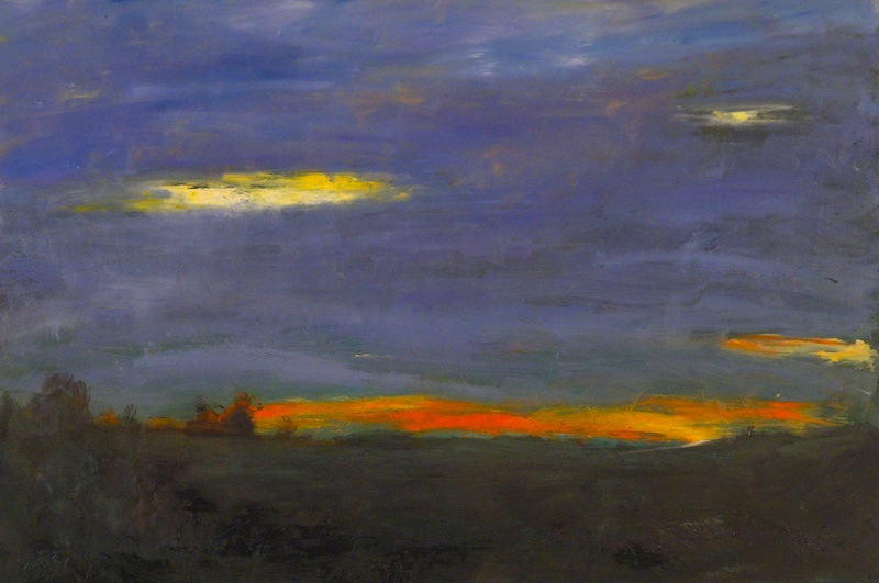 STREAKED SUNSET by Desmond McRory - 24 x 36 in., o/b • SOLD