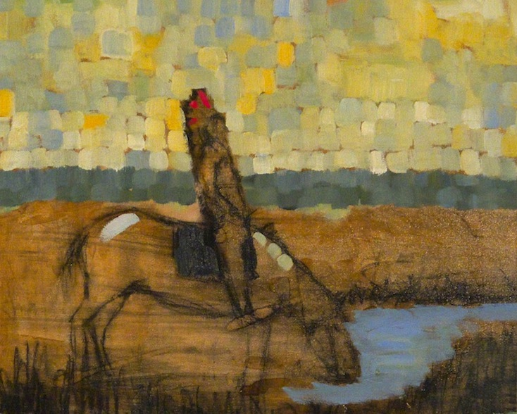 OASIS (After Edward S. Curtis) by Desmond McRory - 16 x 20 in., o/b • $2,000