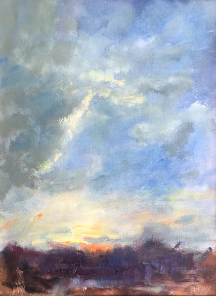 TOWERING CLOUD by Desmond McRory - 24 x 18 in., o/b • $2,500