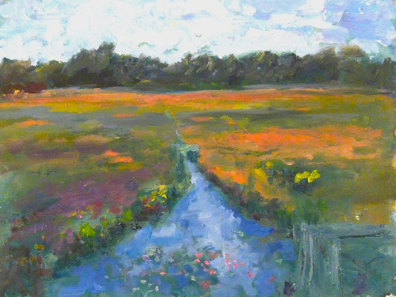 BLOSSOM IN CRANBERRY BOG by Desmond McRory - 18 x 24 in., o/b • $2,500