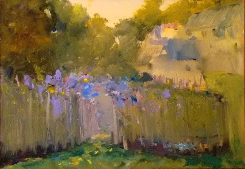KATE'S GARDEN by Desmond McRory - 18 x 24 in., o/b • SOLD