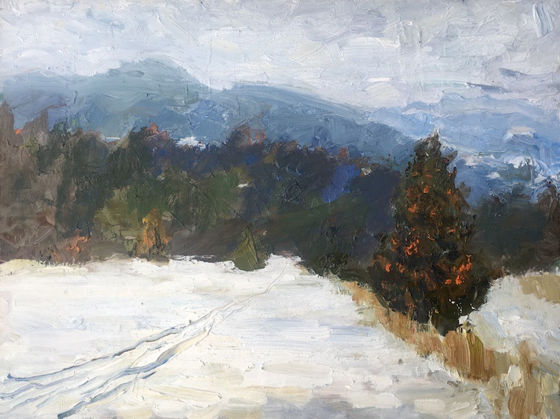 WINTER JOURNEY by Desmond McRory - 18 x 24 in., o/b • $2,500