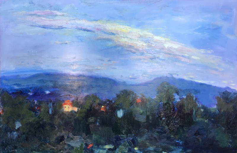 TUSCAN EVENING by Desmond McRory - 24 x 36 in., o/b • SOLD