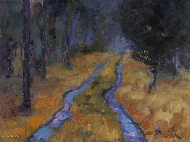 FOREST ROAD by Desmond McRory - 18 x 24 in., o/b • $2,500