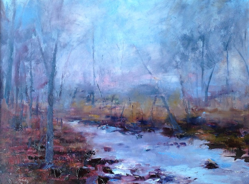 FOG ON LOWER CREEK by Desmond McRory - 18x 24 in., o/b • MUSEUM COLLECTION