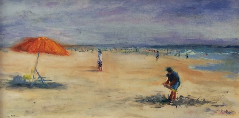 LONG BEACH ISLAND by Desmond McRory - 11 x 21.5 in., o/b • SOLD