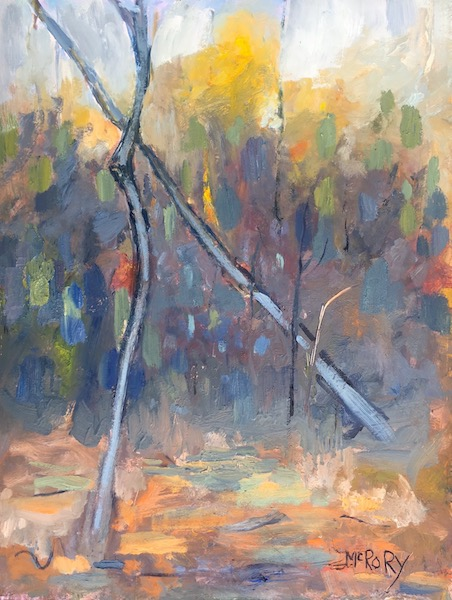 TWO TREES by Desmond McRory - 24 x 18 in., o/b • $2,500
