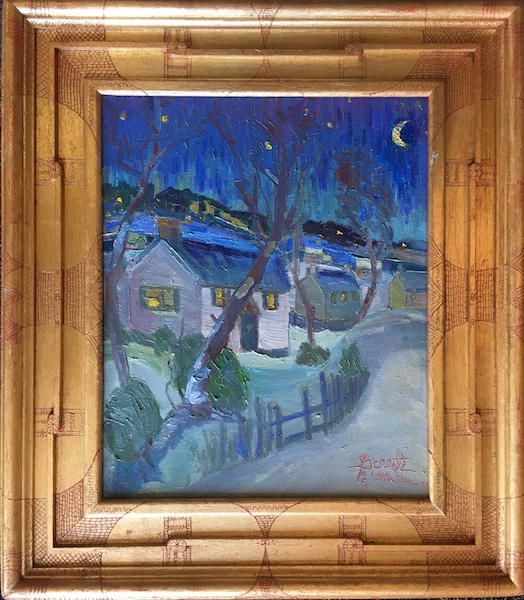 NEW:  EDGE OF THE VILLAGE by Joseph Barrett - 17 x 14 in., o/c • $3,900