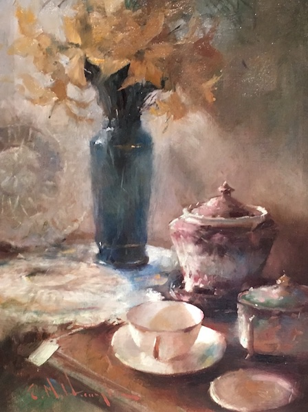 AFTERNOON TEA by Evan Harrington - 12 x 9 in., o/l • SOLD
