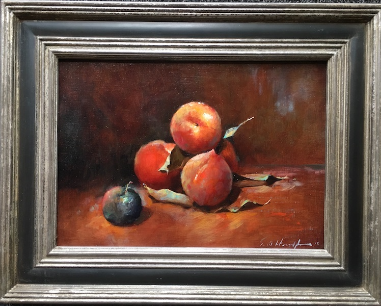 PEACHES by Evan Harrington - 10 x 14 in., o/l • SOLD