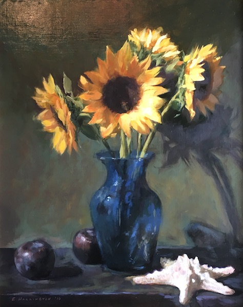 SUNFLOWERS by Evan Harrington - 20 x 16 in., o/l • SOLD