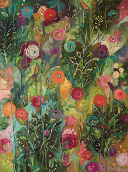 GARDEN MEMORIES by Jean Childs Buzgo - 24 x 18 in., o/c • $2,500