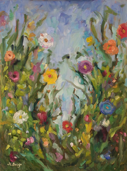 GARDEN MIX II by Jean Childs Buzgo - 16 x12 in., o/b • $1,600