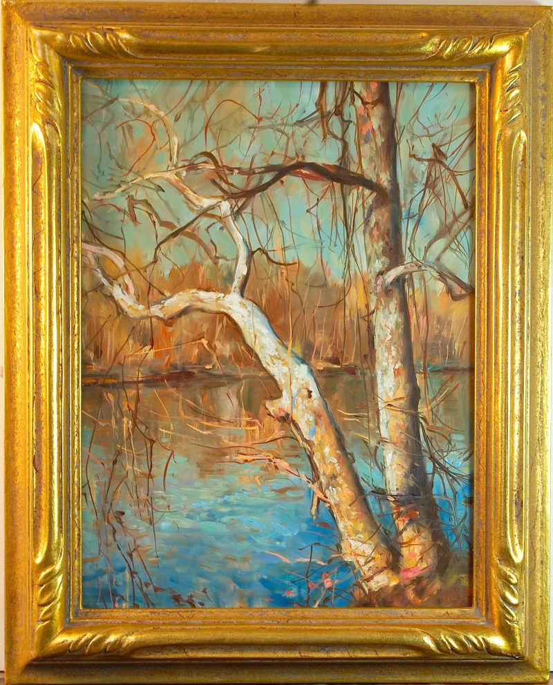 PRELIMINARY TO MARCH ON THE RIVER  by Glenn Harrington - 12 x 9 in., o/lb • SOLD