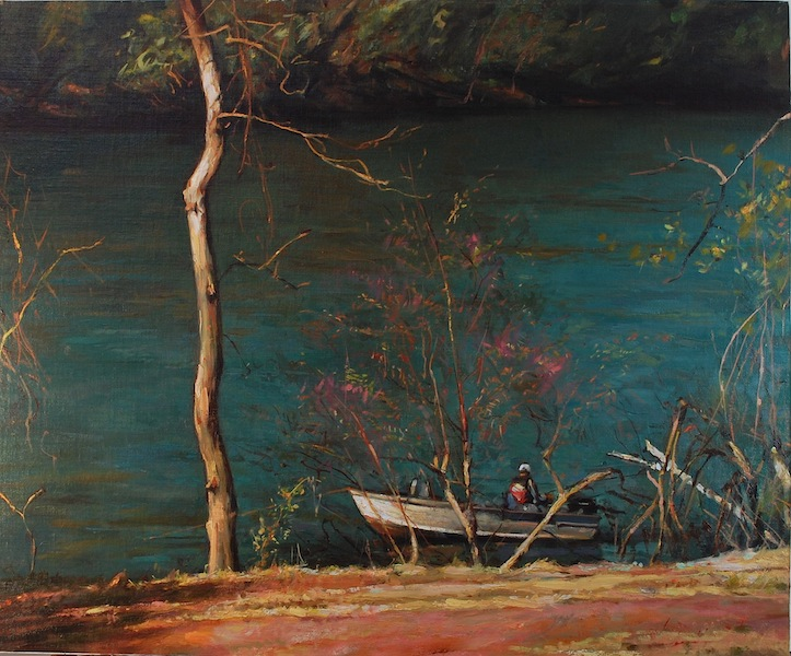 SHAD BOAT by Glenn Harrington - 24 x 30 in., o/l • $10,800