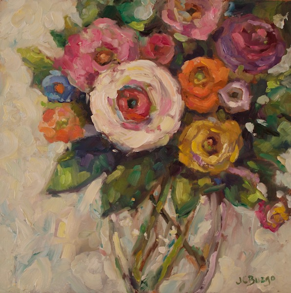 GARDEN BOUQUET by Jean Childs Buzgo - 10 x 10 o/b • SOLD