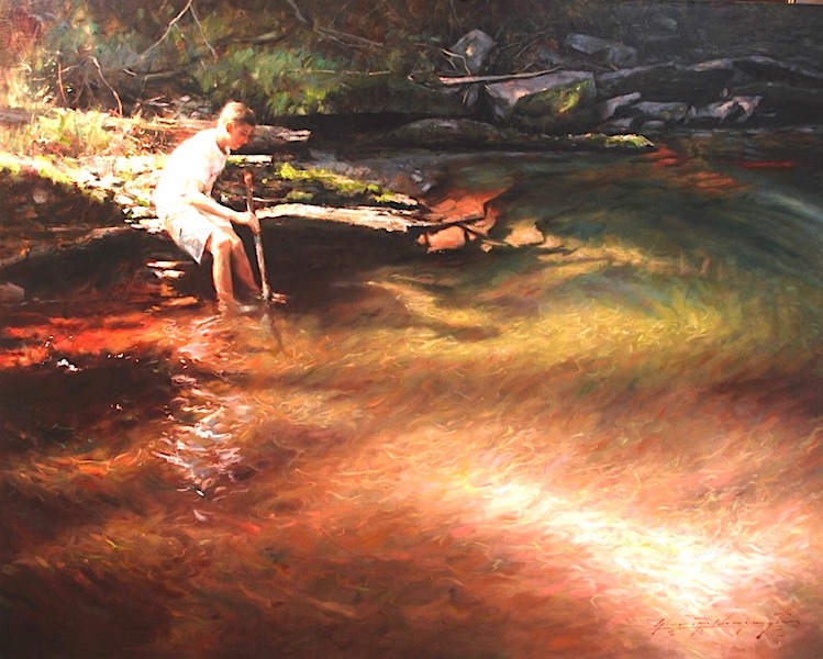 RED SHALEPOOL by Glenn Harrington - 48 x 60 in., o/l • $25,000