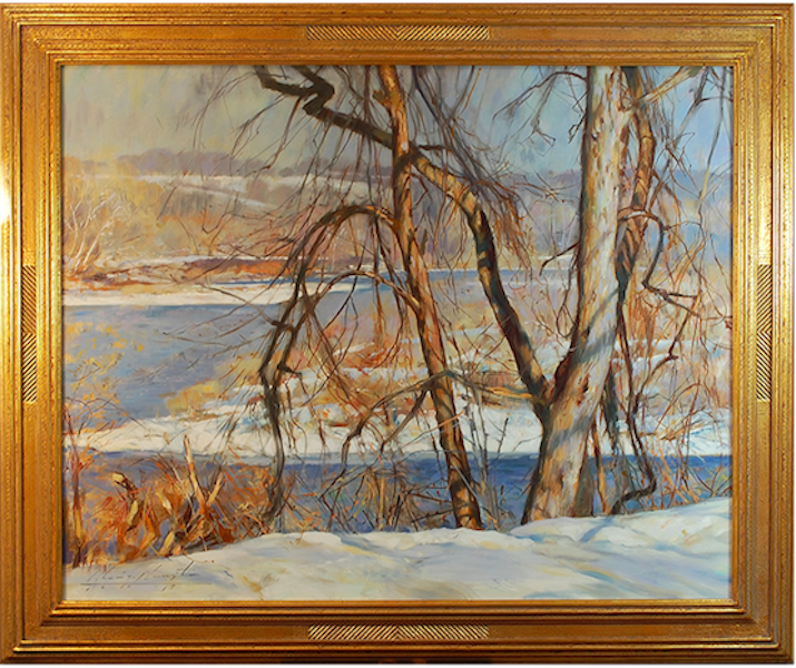 LATE AFTERNOON, LUMBERVILLE by Glenn Harrington - 24 x 30 in., o/l in Madary frame • $10,800