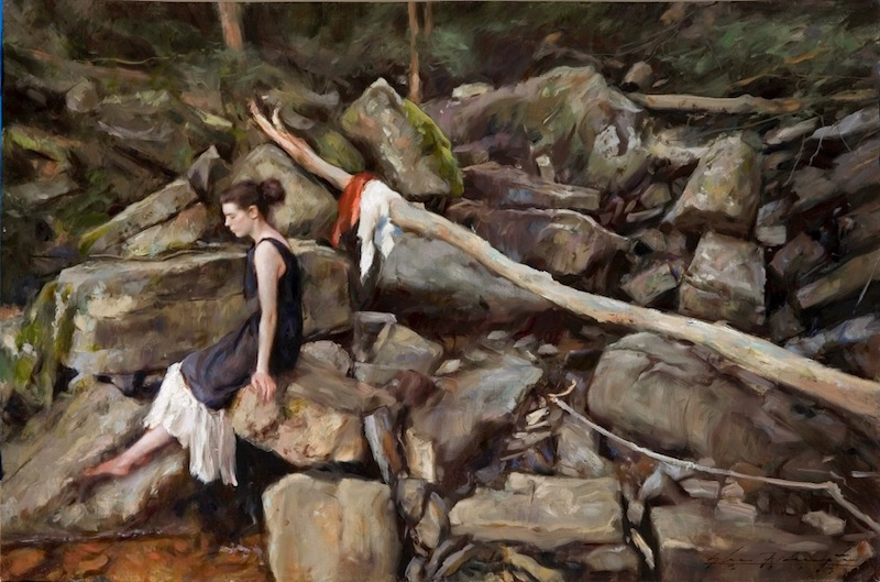 ROCKS by Glenn Harrington - 20 x 30 in., o/l • $10,500
