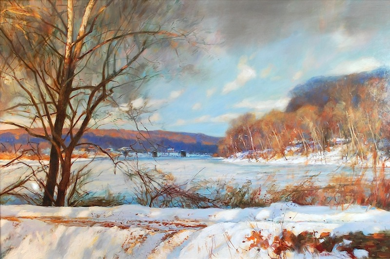 BLUE HILLS by Glenn Harrington - 24 x 36 in., o/l • $12,000