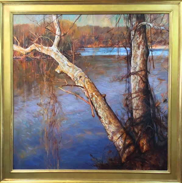 Just spectacular: MARCH ON THE RIVER by Glenn Harrington - 48 x 48 in., o/lb • $22,000
